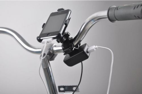 ... 自転車パワーで充電できるUSB充
